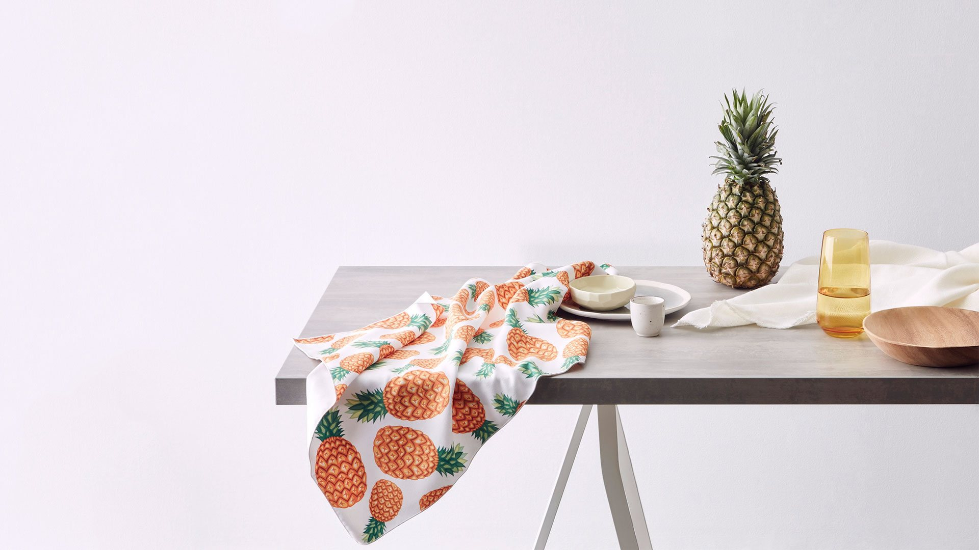 KE Design Pineapple Print Tea Towel