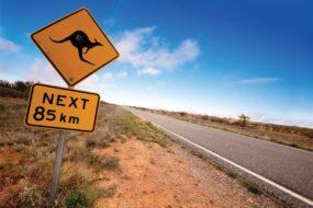 AU07 Post Card Road Sign