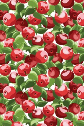 KW01  Tea Towel Cherry