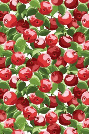 KW01  Tea Towel Cherry