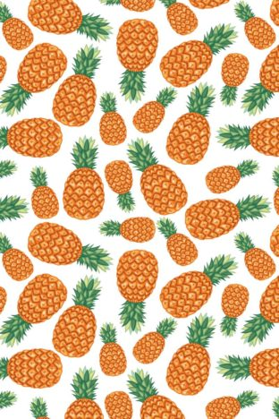 KW02  Tea Towel Pineapple