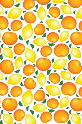 KW03  Tea Towel Orange and Lemon