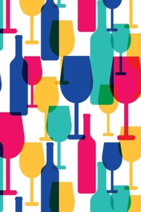 KW06  Tea Towel Wine Glasses