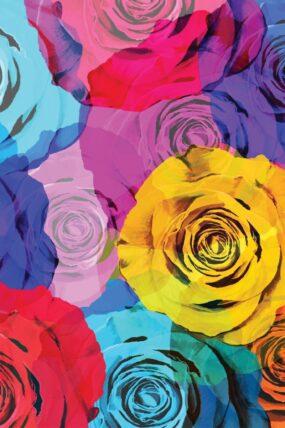 KW08 Tea Towel Flowers