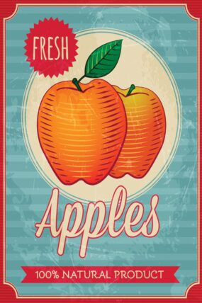 KW11  Tea Towel  Apples