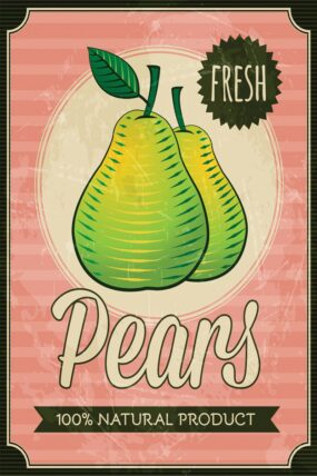 KW12  Tea Towel  Pears