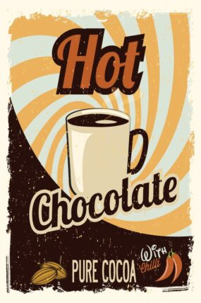 KW15  Tea Towel Hot Chocolate