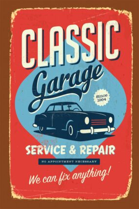 KW18  Tea Towel Classic Car