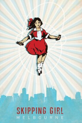 KW22  Tea Towel Skipping Girl