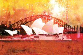 N02 Post Card Opera House Fireworks