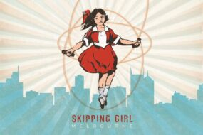 V01 Post Card Skipping Girl