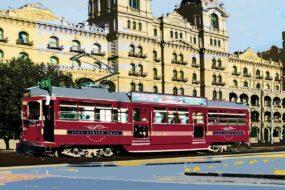 V03 Post Card Tram