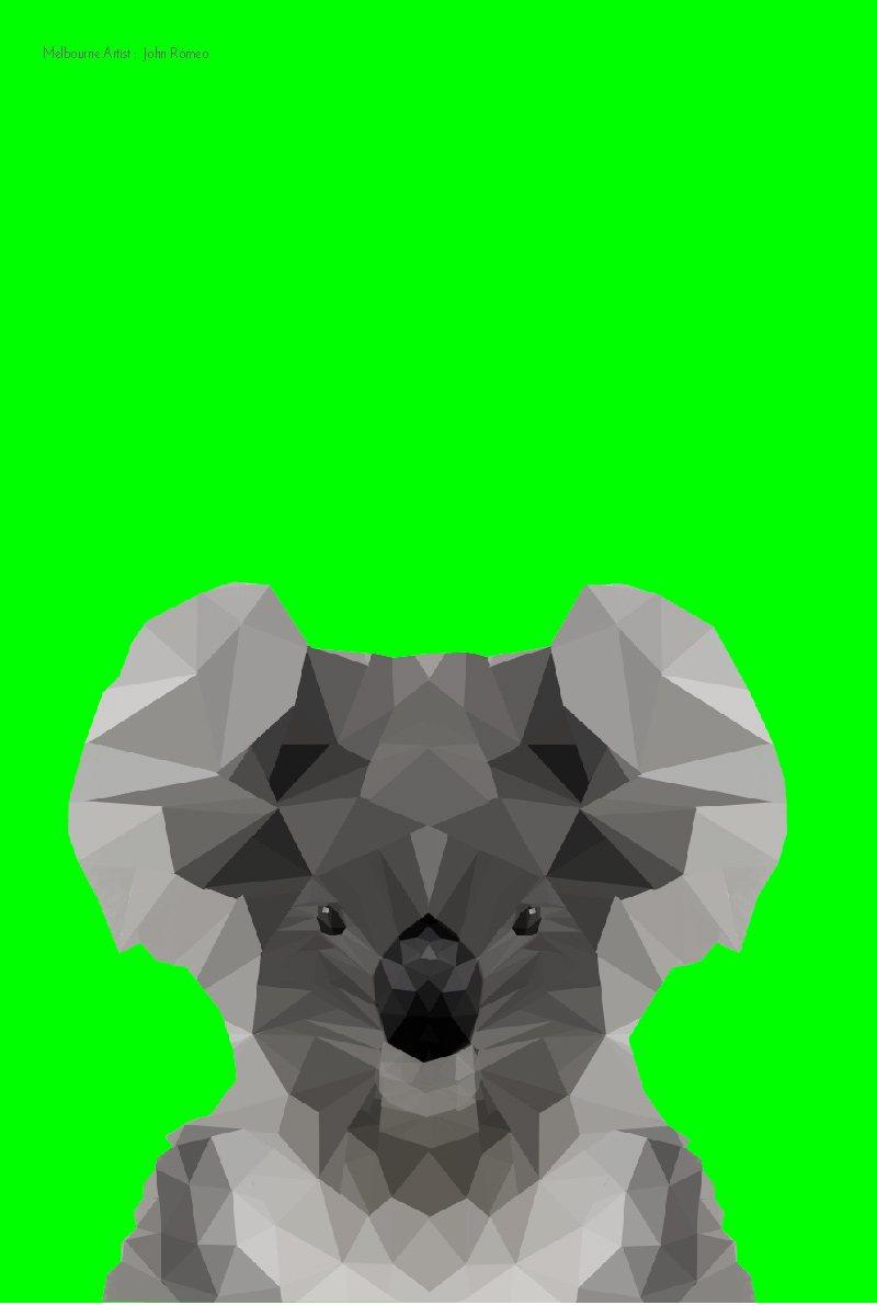 Tea Towel Koala Green Ke Design Gift Amp Home