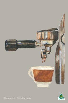 TRAVEL TOWEL COFFEE MACHINE GREY