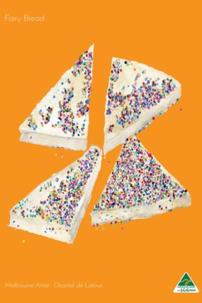 TRAVEL TOWEL FAIRY BREAD ORANGE