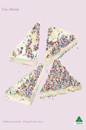 TRAVEL TOWEL FAIRY BREAD LIGHT PINK