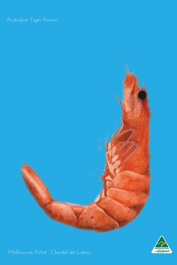 TRAVEL TOWEL PRAWN CYAN