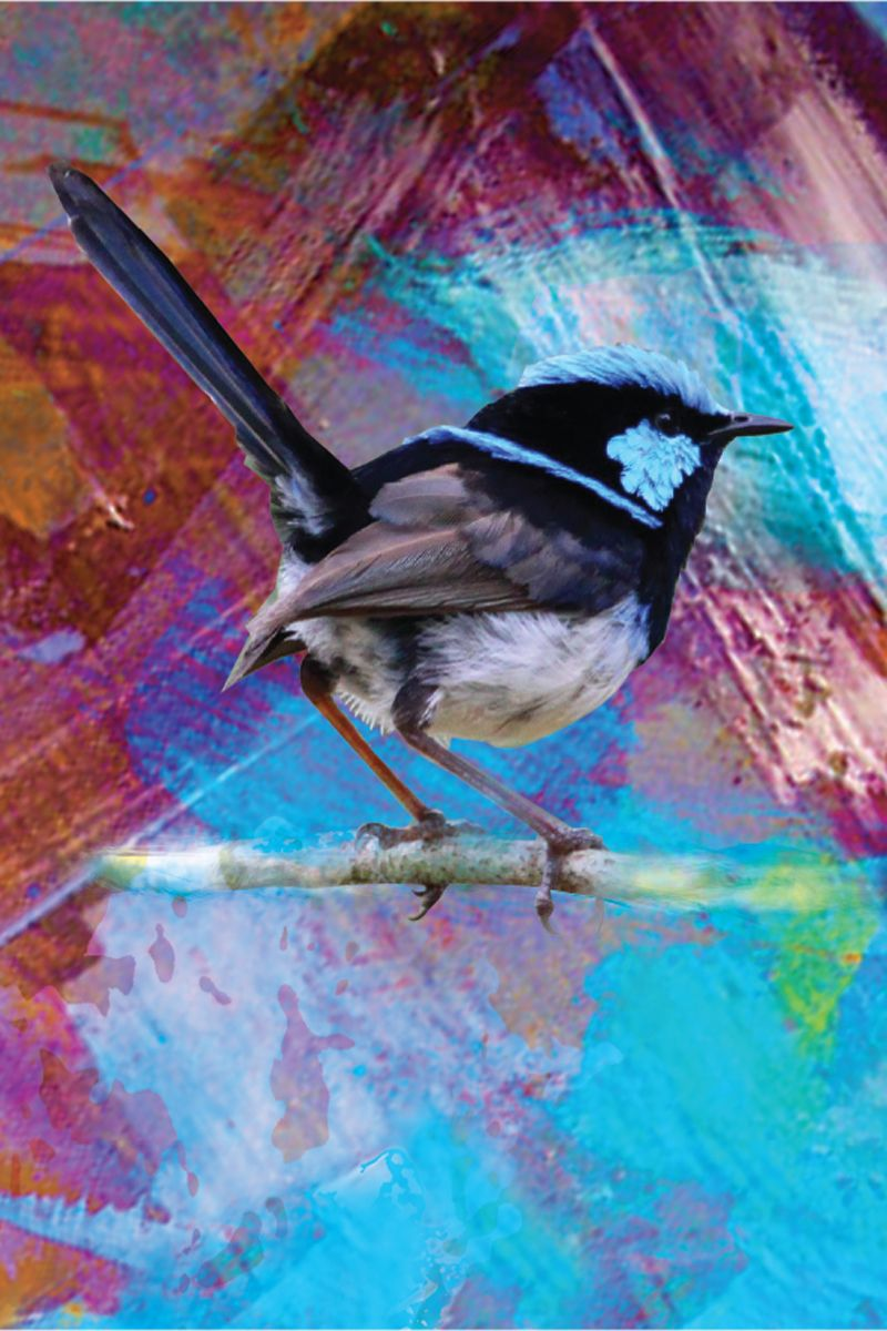 TRAVEL TOWEL BLUE WREN