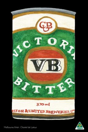 TRAVEL TOWEL VB BEER BLACK