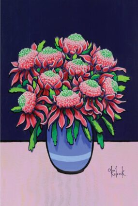 Waratah-in-vase