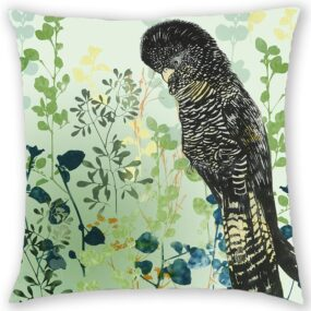 CUSHION COVER - ITS ALL ABOUT THE HAIRDO (GREEN)