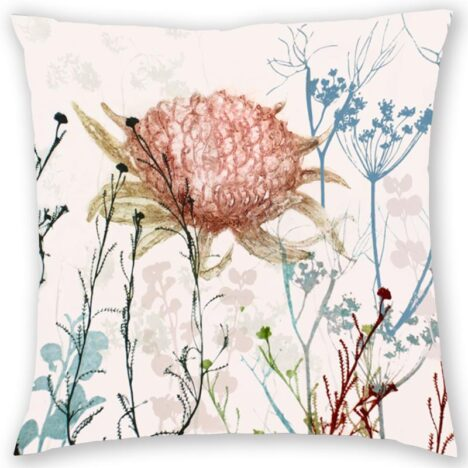 CUSHION COVER - PINK WARATAH