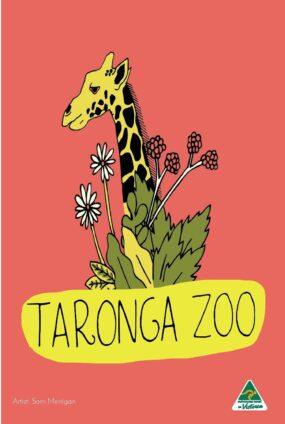 TEA TOWEL - TARONGA ZOO PINK