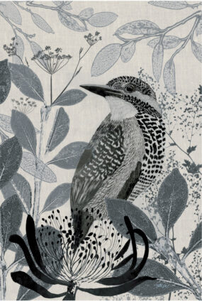 TEA TOWEL - KINGFISHER