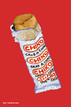 TEA TOWEL - CHIKO ROLL RED