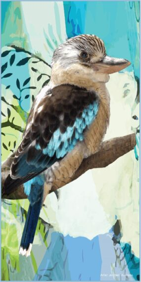 Kookaburra Beach Towel